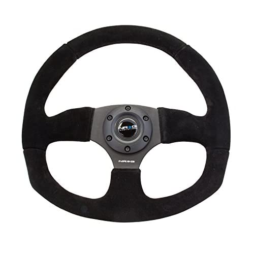 high-quality NRG 320mm Sport Suede Steering Wheel Oval with