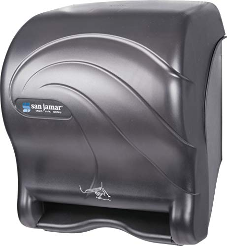 San Jamar T8490TBK Smart Essence Oceans Hands Free Paper Towel Dispenser, Black Pearl