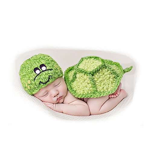 Newborn Baby Photography Props, Infant Outfits Lovely Tortoise Type Hat Pant (Hawaii Girl Halloween Costumes)
