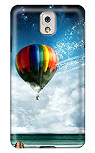 Simply Case Designs Balloon Flying over the Ocean Design PC Material Hard Case For Samsung Galaxy N9000 Note 3