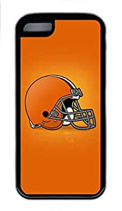 5C Case, iPhone 5C Case Cover, Customize Soft Rubber TPU Black Cases Cleveland Browns Shoockproof Protective Case Cover for New Apple iPhone 5C