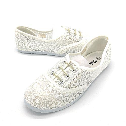 EASY21 Women Canvas Mesh Upper Fashion Falts Ballet Shoes -