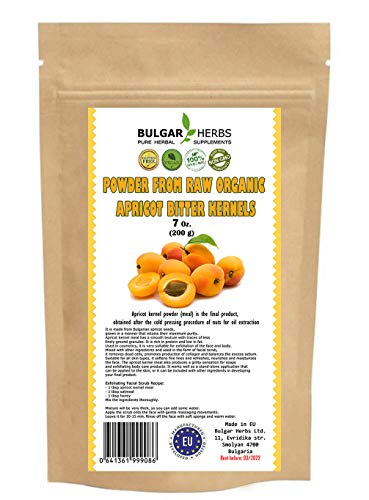 Raw Organic Bitter Apricot Kernel Powder, The Best Natural Source of Vitamin B17 - 7 Oz.