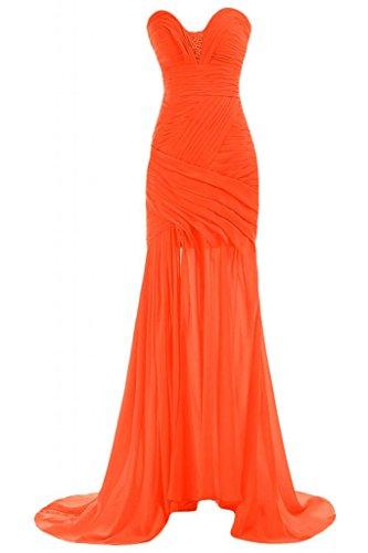 Orange da donna sera abiti Sweetheart Dress Pageant da Party Gowns Sunvary per Chic collo HwBxtqtO
