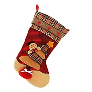 Large Size Christmas Candy Socks made of non-woven fabrics as Gifts Bags for Christmas Decorations-Snowman