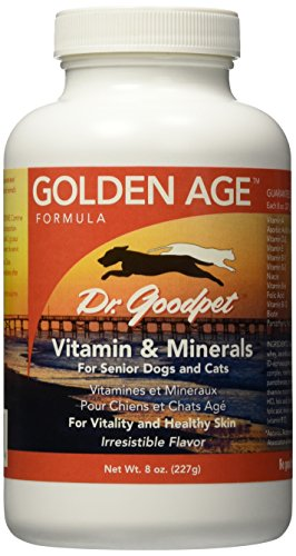 Dr. Goodpet Golden Age All Natural Potent Multi-Vitamin/Mineral Powder for Adult Dogs & Cats