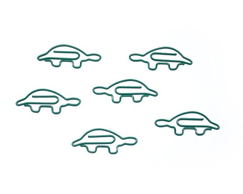 Butler in the Home Turtle Shaped Paper Clips Great For Paper Clip Collectors or Office Gift - Comes in Round Tin with Lid and Gift Box (100 Count Green) by Butler in the Home (Image #1)