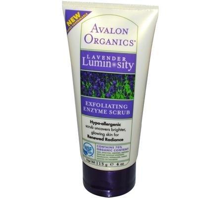 Avalon Lavender Luminosité exfoliant enzymatique Scrub 4 Oz