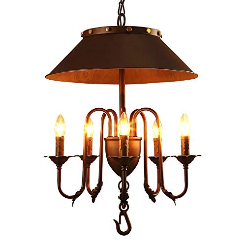 Amazon.com: SH-61160,Retro Industrial Chandelier,5 Lights ...