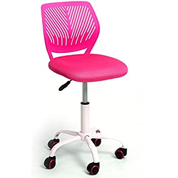 GreenForest Adjustable Kids Study Chair Low Back Small Desk Chair , PINK