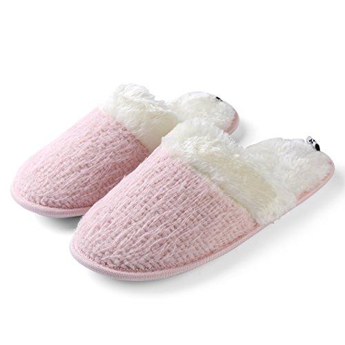Comfortable Splash Pillow Slide Soft Fleece Home Pink Aerusi House Bedroom Slipper Women's Love Warm Spa Baby YwxYR81n