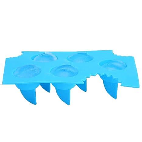 XIAOJUNJUN Moldes Para Helados Molde Azul Del Hielo Del Molde Del Hielo Del Tiburón De La