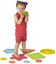 Little Chubby One Sensory Tiles - Learning Toys for Kids - Set of 10 Safe Non-Slip Non-Toxic Silicone Stepping