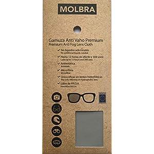 MOLBRA Gamuza Premium Microfibra Anti-Vaho - 12 Horas de Efecto y 300 Usos - Sin Líquidos Adicionales - Libre de P.F.O.A. - Reach Compliance (UE) - Válida para Lentes hidrofóbicas. 8