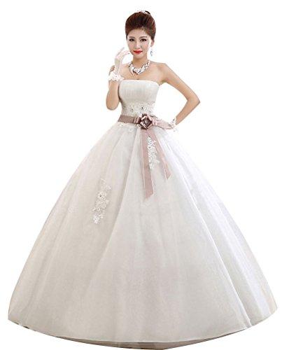 Eyekepper Strapless Maternity Wedding Dress For Pregnant Bride Custom Size