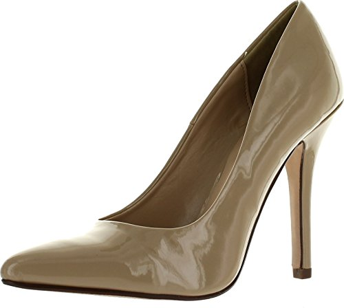 Delicious Date-H Pumps-Shoes Dark Beige Patent 8
