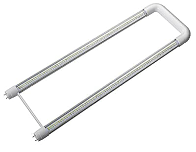 Cy Led 18w U Shaped 32-watt Fluorescent T8 Bulb U-tube 6-inch Leg Spacing, 800 Series, Medium Bi-pin Base,6-Pack