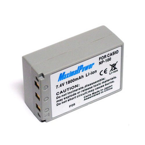 Maximal Power DB CAS NP-100 Replacement Battery for Casio Digital Camera/Camcorder (Ivory)