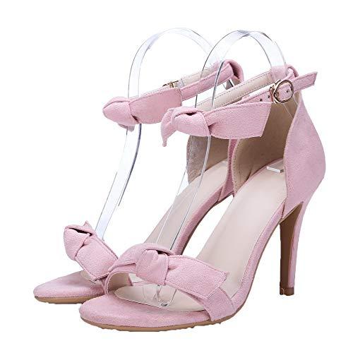 Kitten CCALP013865 Toe VogueZone009 Heels Sandals Pink Buckle Open Pu Women Solid R7q5zU7