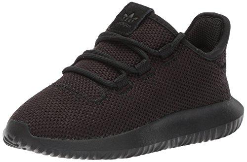 adidas Originals Unisex Tubular Shadow Running Shoe, White/Black, 2.5 M US Little Kid ()