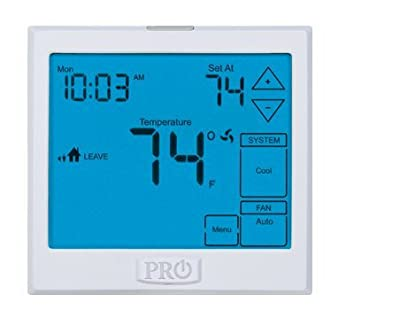 PRO1 IAQ T925 Touchscreen Heat Pump Thermostat with Large Easy-to-Read Display