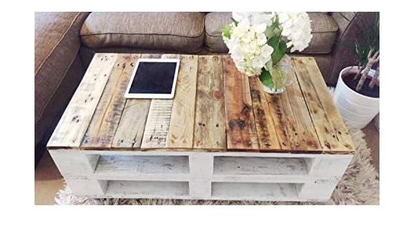 Mesa de palets de madera con ruedas - Mesita Auxiliar & Centro ...