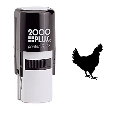 Amazon Rooster Chicken Self Inking Rubber Stamp
