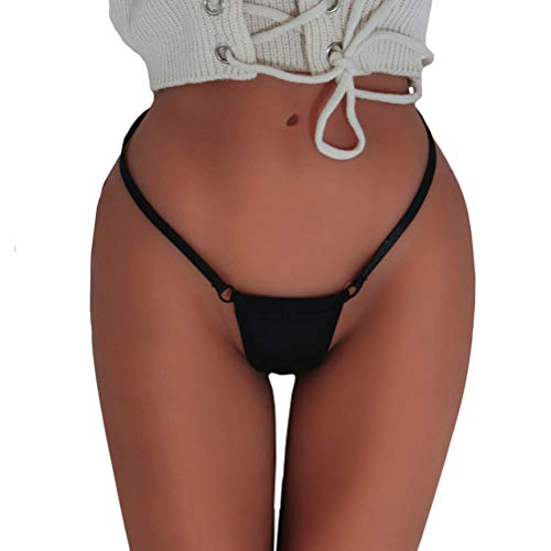 Clearance! Elogoog Women Plus Size Sex Low Rise G-String Sexy Lingerie T-Back Thongs Panties Underwear (Black, L) - Sexy G-string