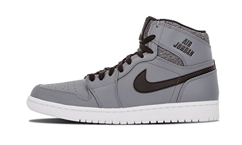 Nike Herren Air Jordan 1 Retro High Turnschuhe, Talla Wolf Grey/Black/White