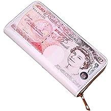 Women Men Bifold Business Leather Wallet ID Credit Card Holder zipper Pockets by-NEWONESUN