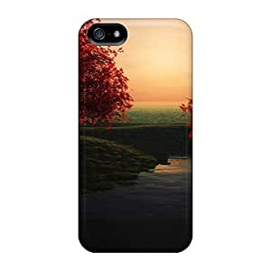 Perfect Cell-phone Hard Cover For Apple Iphone 5/5s With Customized Realistic Autumn Tree Wallpaper2 Pattern Icase88