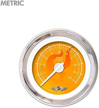 Aurora Instruments GAR287ZMAIABCD Ghost Flame Series Orange Tachometer Gauge with Emblem