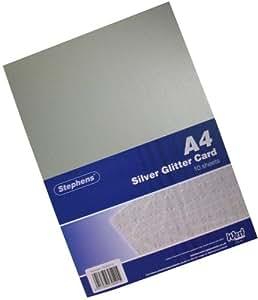 Stephens - Cartulinas con efecto brillo (A4, 220 g/m²), color plateado