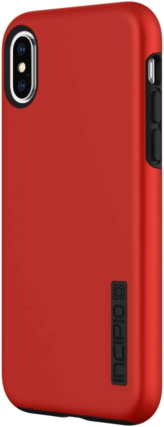 """Incipio DualPro Case for iPhone Xs (5.8"""") & iPhone X Case with Hybrid Shock Absorbing Drop Protection - Iridescent Red/Black (IPH-1776-RBK)"""
