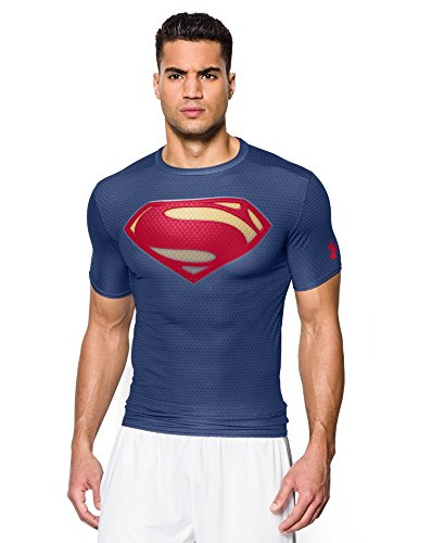Under Armour - Under Armour Alter Ego Tee Shirt - Superman - Navy - Large
