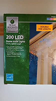 Home Christmas Holiday X79-200007CM 200-Light LED Multi-Colors Icicle Light Set