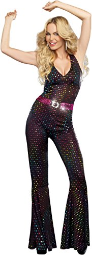 Dreamgirl Women's Disco Doll Costume, Black, Large