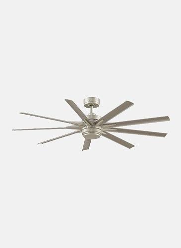 Fanimation Fans FPD8152BNW-64BNW Odyn Custom – 64 Ceiling Fan with Light Kit, Choose Your Blade Finish Brushed Nickel