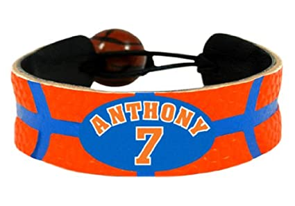 NBA New York Knicks Carmelo Anthony Team Color Jersey Bracelet
