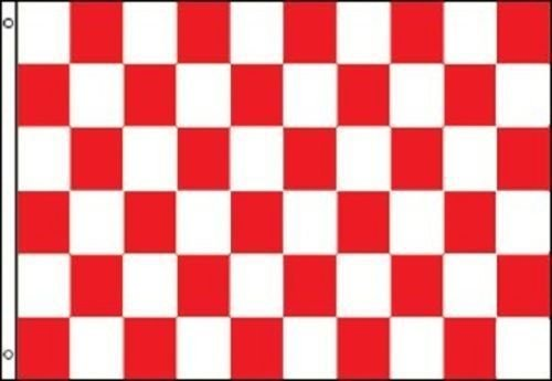 ALBATROS Red and White Checkered Flag Advertising Banner Store Sign Party Pennant 3 ft x 5 ft for Home and Parades, Official Party, All Weather Indoors Outdoors -