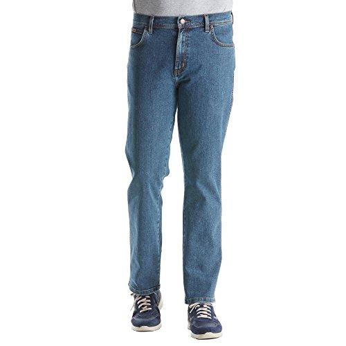 Stretch Blue Texas Jeans Denim Stone Uomo Light Wrangler Da HTZx45