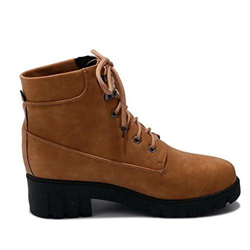 Resistant Womens Retro Brown BalaMasa Boots Slip Urethane ABL10311 Casual Platform XqwEHd6