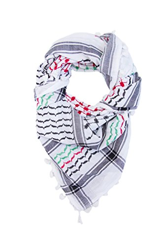 Hirbawi Premium Arabic Scarf 100% Cotton Shemagh Keffiyeh for sale  Delivered anywhere in USA