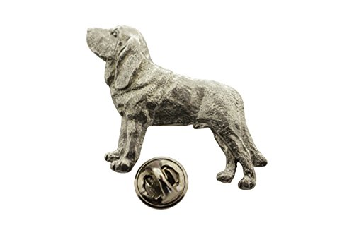 Bloodhound Pin ~ Antiqued Pewter ~ Lapel Pin ~ Sarah's Treats & Treasures ()
