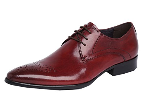 Red Lace Brown Footwear in Shoes Spring Leather MEbox Oxford up Mens vPwt1gnqxz