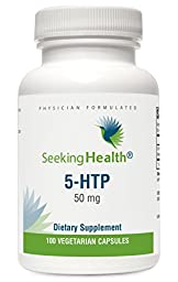 5-HTP | 5-Hydroxytryptophan | 50 mg | 100 Vegetarian Capsules | Seeking Health | Physician-Formulated