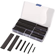 Vktech 150pcs 2:1 Heat Shrink Tubing Tube Sleeving Wire Cable 8 Sizes 2-13mm Black