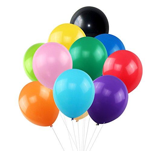 [해외]KUMEED 12 라텍스 풍선 글로브 일반 밝은 색 풍선 파티 생일 웨딩 장식 풍선 팩 100/KUMEED 12  Latex Balloons Globos Plain Bright Color Balloon Party Birthday Wedding Decoration Balloons Pack of 100