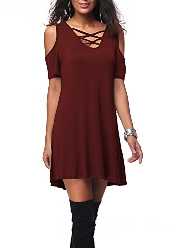 ATOYS Sexy Women New Sexy Off Shoulder Casual Bodycon Bandage Party Evening Mini Dress