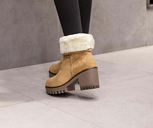 2 Stivali Size Stivali Casual 5cm Eu Chunkly Heeled Stivali Vie 7 Caldi Donne Usura 34 40 Stivali Brown Scamosciati Spessi Stivali Boots d7UwqaEE